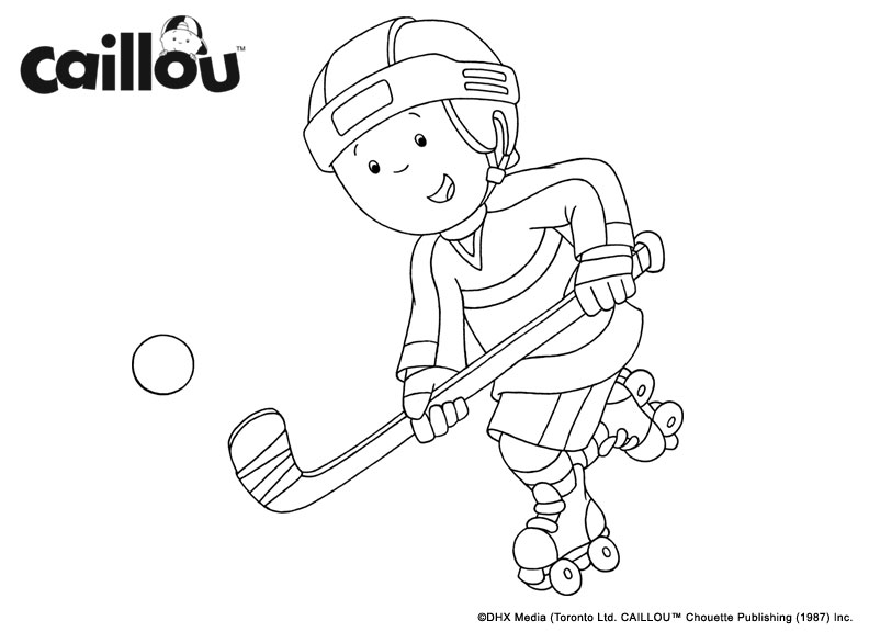 Coloriage caillou hockey caillou - Coloriage caillou ...